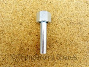 "Petrol Tap Nut and Straight Spigot, 1/4"" BSP & 1/4"" - 5/16"" Bore Pipe, Triumph, 82-3334"